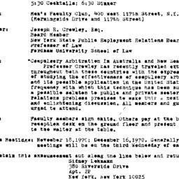 Announcements, 1970-10-21. ...