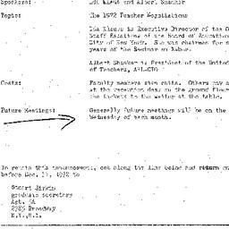 Announcements, 1972-12-13. ...