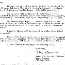 Announcements, 1975-01-24. ...
