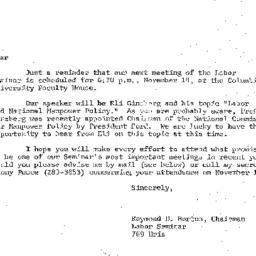 Announcements, 1974-10-23. ...