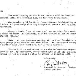 Announcements, 1974-11-18. ...