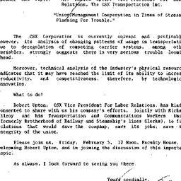 Announcements, 1988-02-05. ...