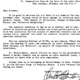Announcements, 1987-11-06. ...