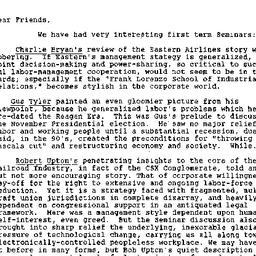 Announcements, 1988-12-16. ...