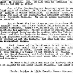Announcements, 1989-09-28. ...