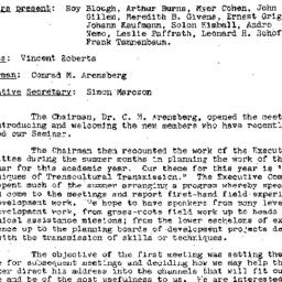 Minutes, 1957-10-08. Develo...