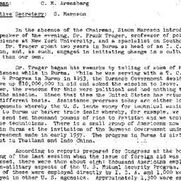 Minutes, 1957-11-19. Develo...