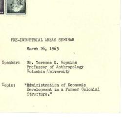 Announcements, 1963-03-26. ...