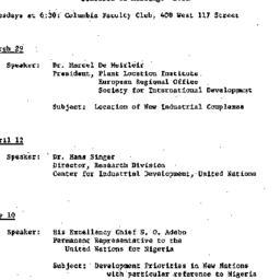 Schedules, Development of P...