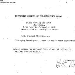 Announcements, 1969-05-20. ...