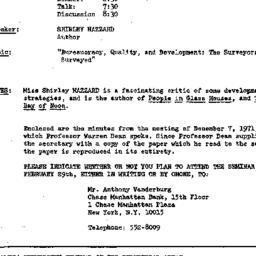 Announcements, 1972-02-29. ...