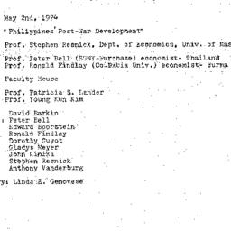 Minutes, 1974-05-02. Develo...