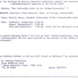Announcements, 1974-02-07. ...