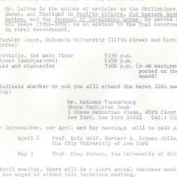 Announcements, 1975-03-18. ...