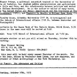 Announcements, 1975-10-16. ...