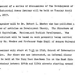 Announcements, 1977-05-24. ...
