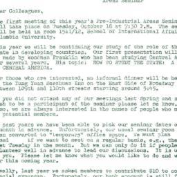 Announcements, 1977-10-18. ...