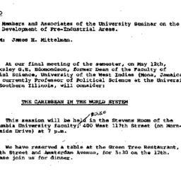 Announcements, 1981-05-12. ...