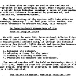 Announcements, 1981-02-02. ...
