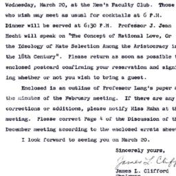 Announcements, 1963-03-09. ...