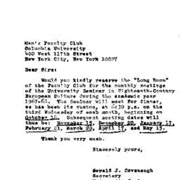 Announcements, 1968-04-27. ...