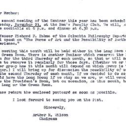 Announcements, 1968-11-08. ...