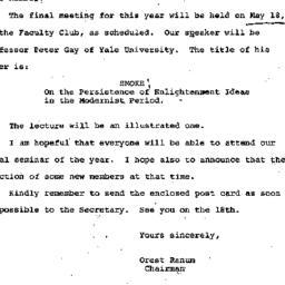 Announcements, 1972-04-25. ...