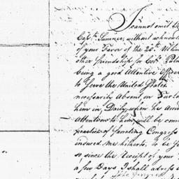 Document, 1779 March 25