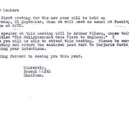 Announcements, 1978-09-07. ...