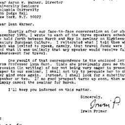 Correspondence, 1992-01-22....