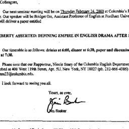 Announcements, 2000-01-26. ...