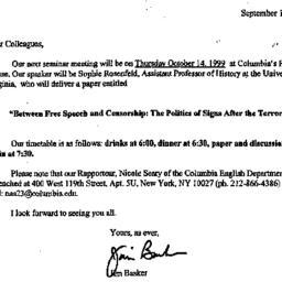 Announcements, 1999-09-18. ...