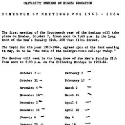 Announcements, 1963-10-07. ...