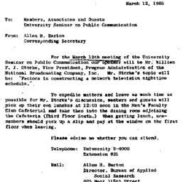 Announcements, 1965-03-12. ...