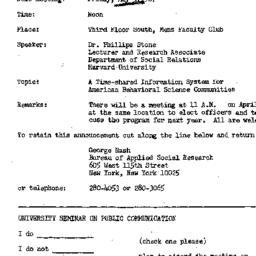 Announcements, 1967-05-05. ...