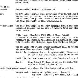 Announcements, 1968-02-16. ...