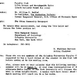 Announcements, 1972-02-11. ...