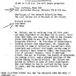 Announcements, 1979-02-08. ...