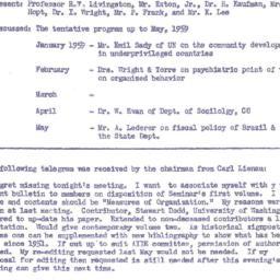 Announcements, 1958-12-01. ...