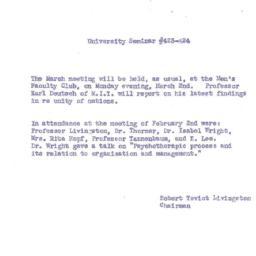 Announcements, 1959-03-02. ...