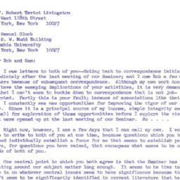 Correspondence, 1967-08-25....