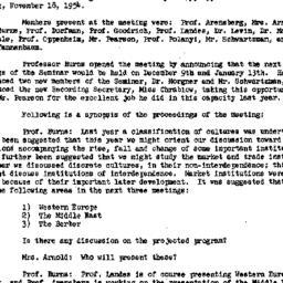 Minutes, 1954-11-18. Social...