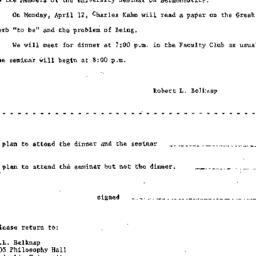 Announcements, 1965-03-19. ...