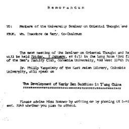 Announcements, 1966-01-07. ...