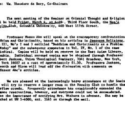 Announcements, 1966-03-04. ...