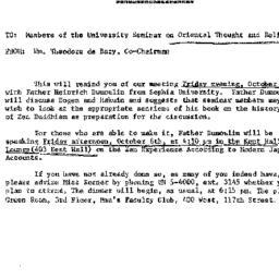 Announcements, 1965-10-08. ...