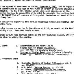 Announcements, 1967-01-06. ...