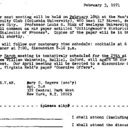 Announcements, 1971-02-03. ...