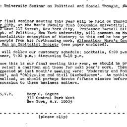 Announcements, 1971-04-24. ...