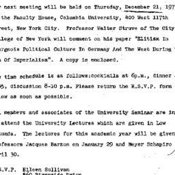 Announcements, 1972-12-08. ...